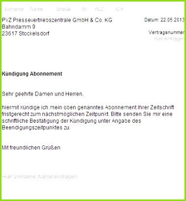 Kundigung Zeitschriftenabo online bei pressevertriebszentrale pvz kündigen