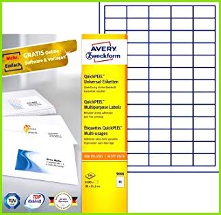 AVERY Zweckform 3666 Universal Etiketten A4 Papier matt 6 500 Etiketten 38