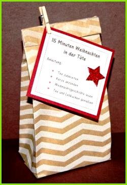 Stempel Exempel 15 Minuten Weihnachten in der Tüte