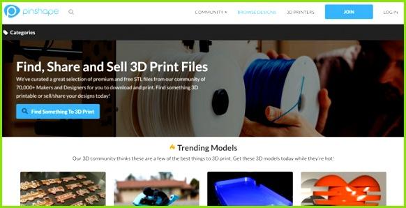 Pinshape Screenshotv 3D Druck Modelle Plattform
