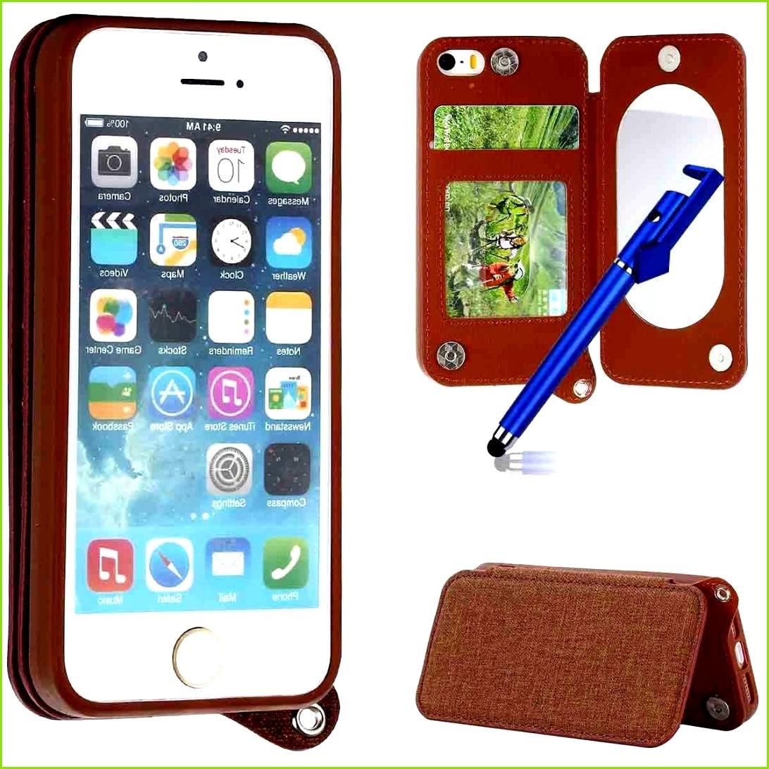 iPhone SE Hülle Spiegel Flip Hülle für iphone 5s MoreChioce Retro Make Up PU Leder Wallet