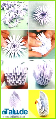 Tangrami 3D Schwan Origami Anleitung 3d Origami Tiere 3d Origami Anleitung Origami Schmetterling