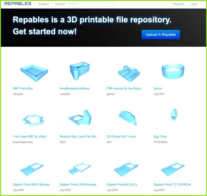 Image of Free STL Files 3D Printer Models & 3D Printer Files Repables