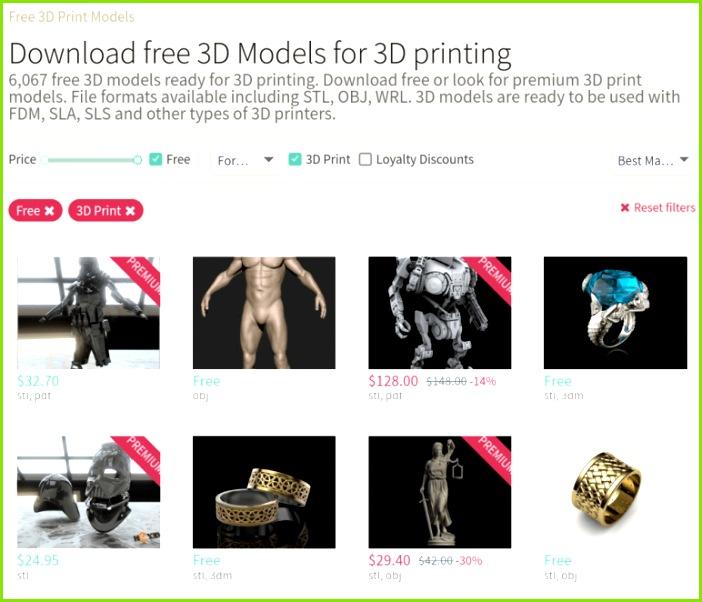 Image of Free STL Files 3D Printer Models & 3D Printer Files CGTrader