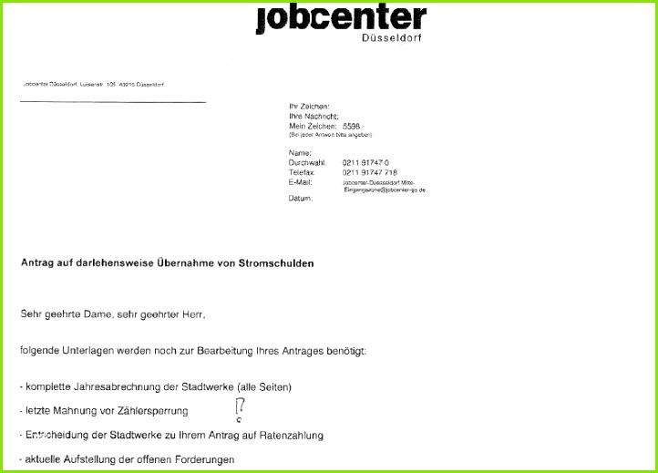 Antrag Darlehen Jobcenter Vorlage Inspiration Print Article