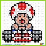 Bügelperlen Vorlagen von Super Mario zum Herunterladen und Ausdrucken