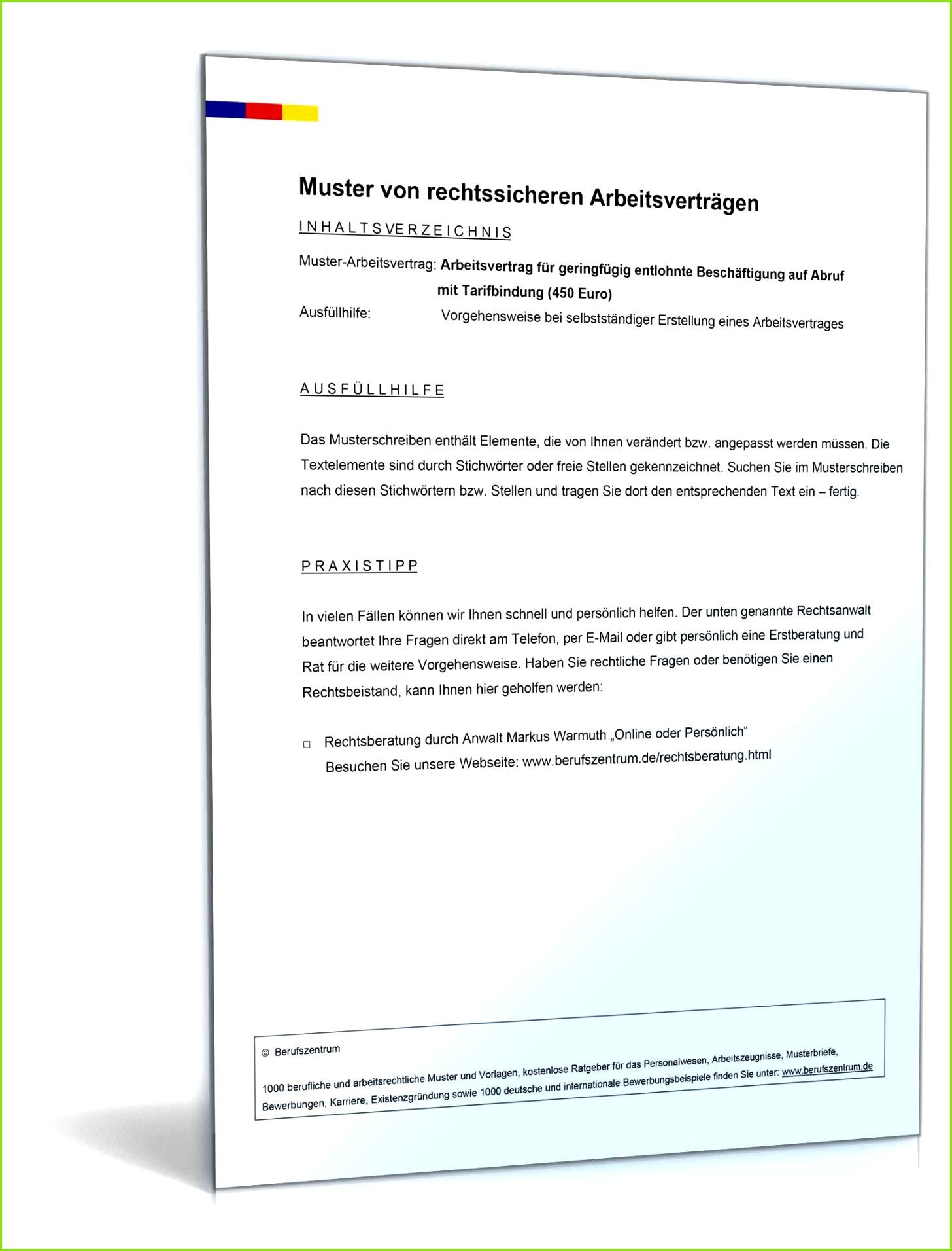 Arbeitsvertrag Minijob pdf seite 2