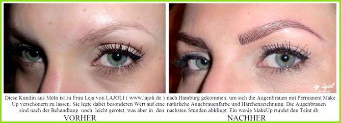 Augenbrauen PermanentMakeUp bei LAJOLI in Hamburg