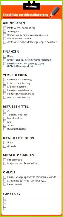 Ihre Checkliste zur Adressänderung beim Umzug Nicole Schoop Homann Adressänderung beim