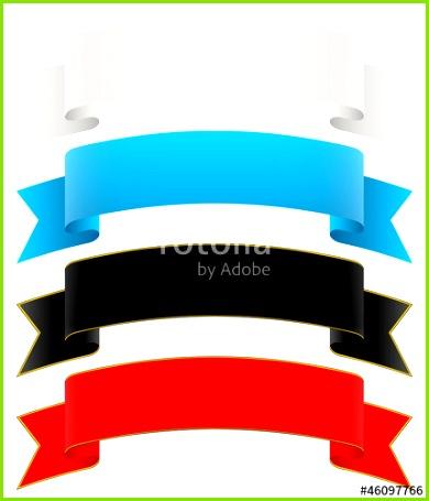 Banderole geschwungen Banner Design Element Banderolen Set