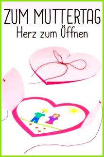 Herzen von Herzen Bastelt etwas für den Muttertag oder den Vatertag Zum Beispiel