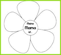 KLASSENKUNST Vorlage Karte zum Muttertag