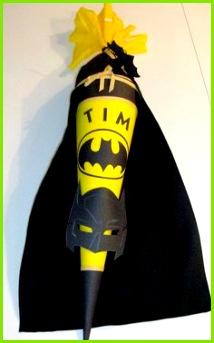 Schule & Kindergarten Schultüte Fledermaus Superheld für Jungs ein Designerstück von soemmie bei DaWanda