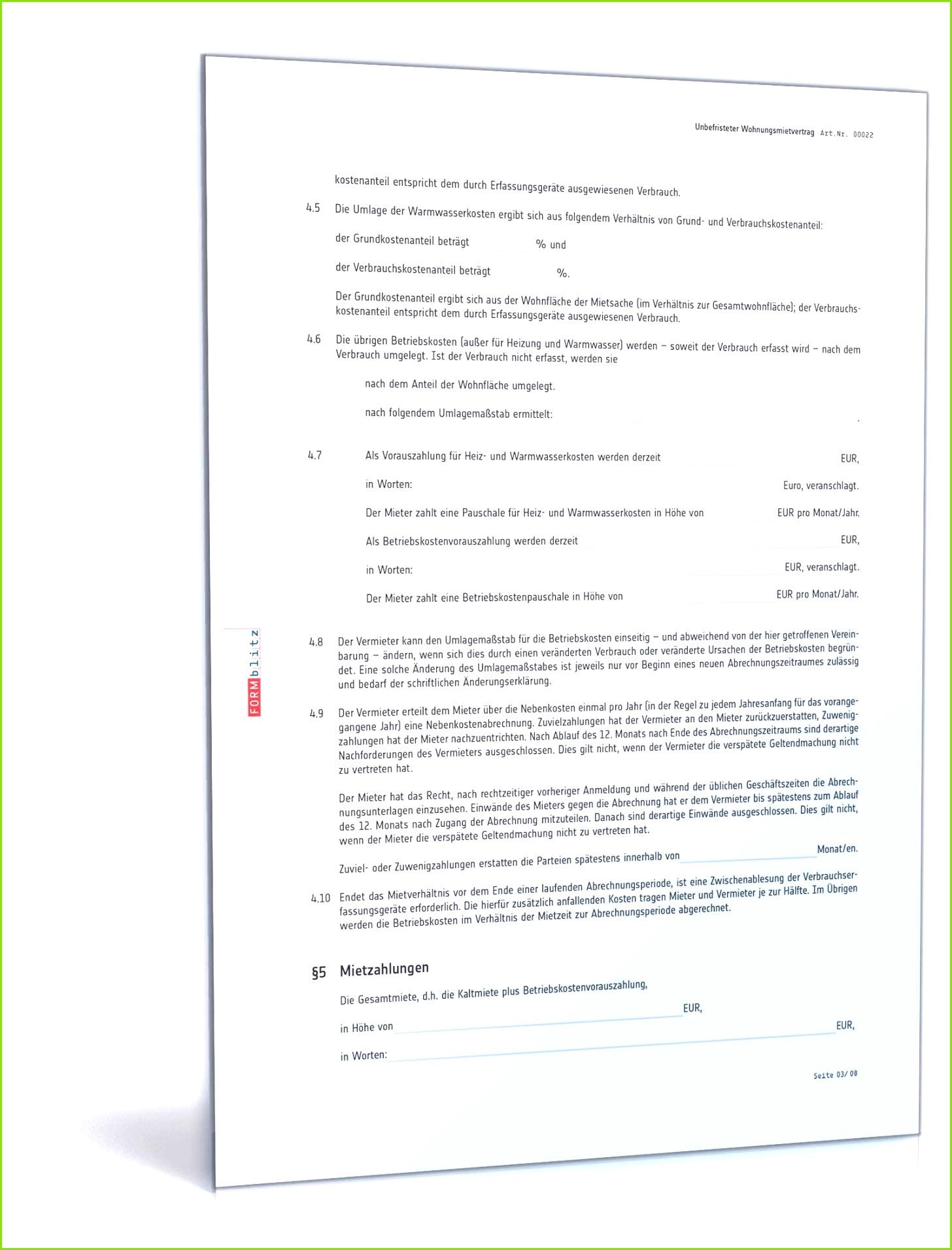 Mietvertrag Wohnung Wohnungsmietvertrag als Muster zum Download image source formblitz