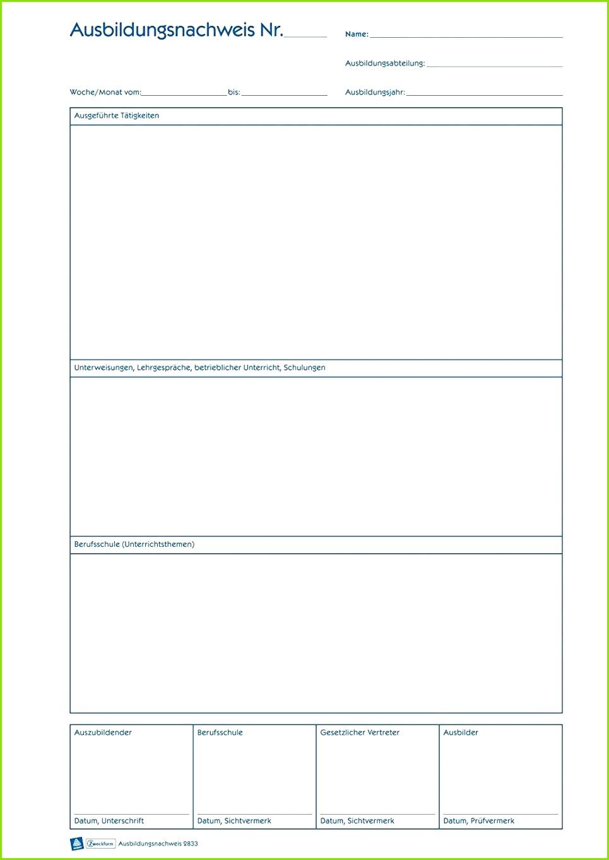 Ihk Ausbildungsnachweis Vorlage Download Abbild Berichtsheft Vorlage Monatlich