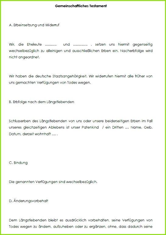 Berliner testament muster kostenlos beschreibung muster