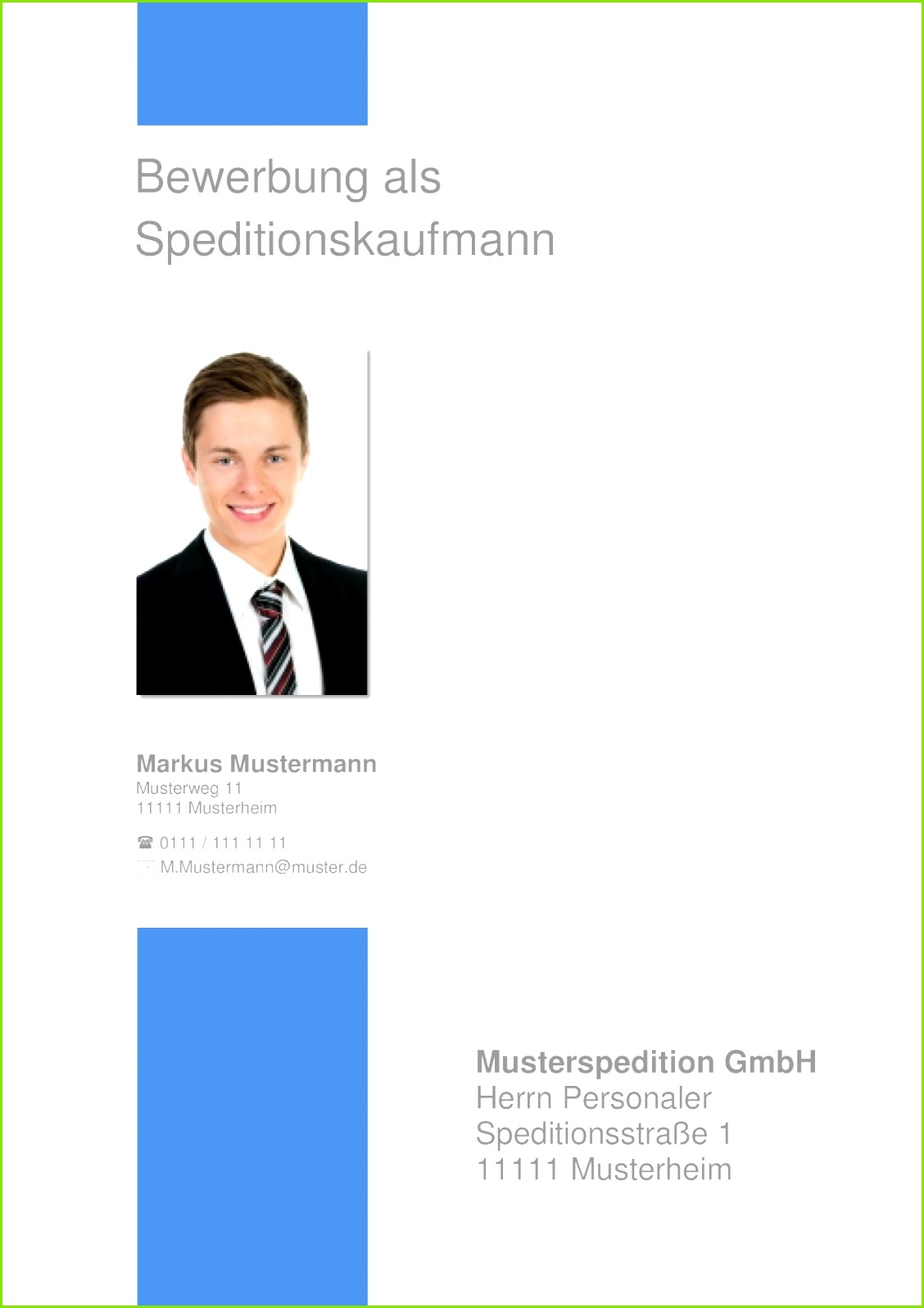 Deckblatt Bewerbung 17 Kaufmann Kauffrau oder Speditionskaufmann bzw Bürokaufmann und Bürokauffrau