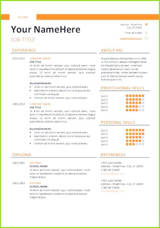 Resume Template Microsoft Word Elegant Resume 52 New Cv Templates Hi Res Wallpaper Cv Templates 0d