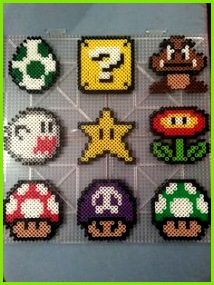 Items similar to Mario Perler Bead Magnets & Ornaments on Etsy