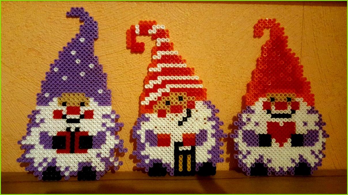 Bügelperlen Vorlage Weihnachtswichtel