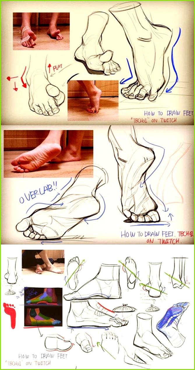 drawing feet Skizzen Zeichnungen Menschen Zeichnen Vorlagen Malen Handzeichnung Vorlagen