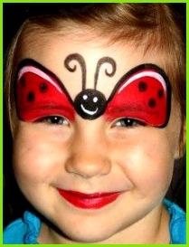 Erfahren Sie in ser Schminkanleitung wie Sie in wenigen Schritten einen Marienkäfer schminken sei es zum Karneval Fasching Mottoparty oder einfach nur