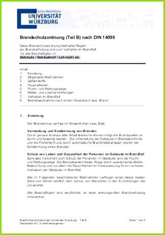 Brandschutzordnung Teil B Universitƒ¤t Wƒ¼rzburg
