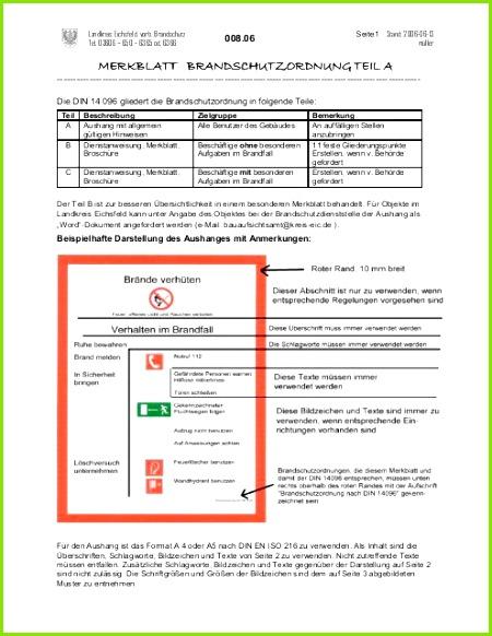 merkblatt brandschutzordnung teil a landkreis eichsfeld