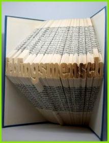 Geschenkidee für den Lieblingsmensch gefaltetes Buch Schriftzug Lieblingsmensch dekoratives Geschenk erhältlich in meinem DAWANDA Shop