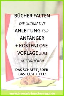 Einfach Bücher falten DIY Anleitung für Anfänger & Vorlage Ein Buch