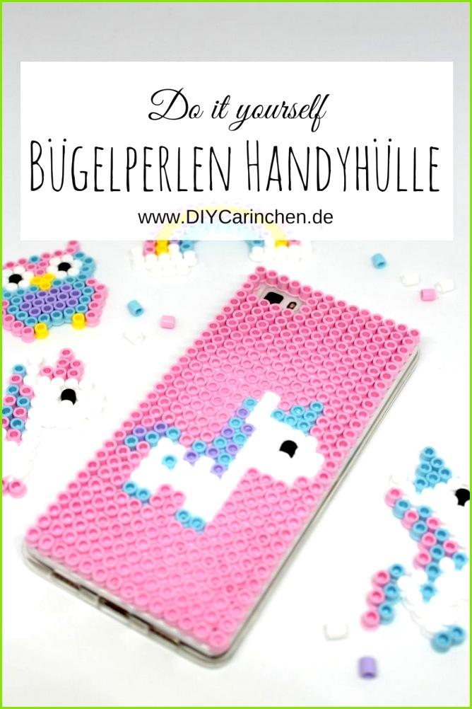 DIY Handyhülle Einhorn aus Hama Bügelperlen ganz einfach selber machen das Must Have im Sommer Alle DIYs von DIYCarinchen Pinterest