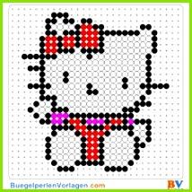 Hello Kitty 2 buegelperlen vorlagen web 148ee Buegelperlen Vorlagen Kostenlose Vorlagen Weben Sterne