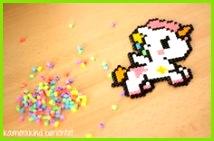 Bügelperlen Einhorn unicorn perler beads kawai