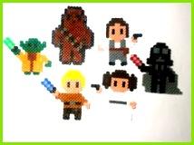 Kühlschrankmagnete Star Wars Bügelperlen 6 Figuren Magnet Sticker ein Designerstück von