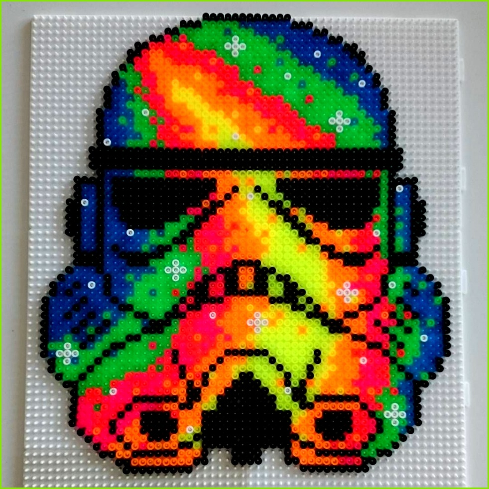 Neon Stormtrooper Star Wars hama beads by hamatiija More