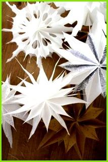 Im letzten Advent habe ich wunderschönen und dabei mega einfachen Sterne aus Butterbrottüten entdeckt
