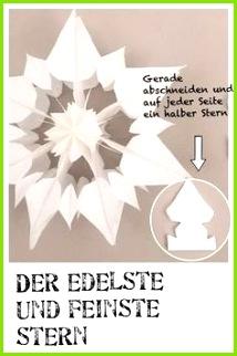 Sterne aus Butterbrottüten kostenlose Anleitung Bastelvorlage Advent