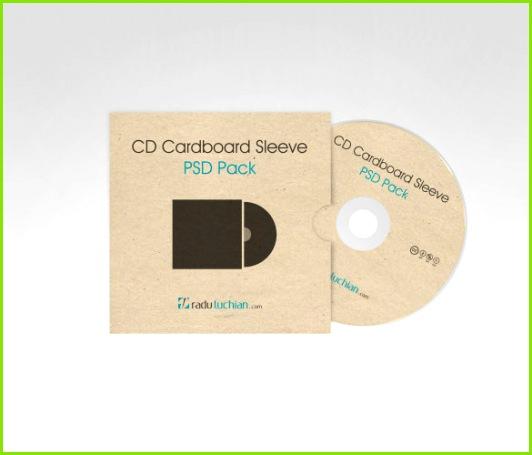 CD Cardboard Sleeve Cover Template PSD