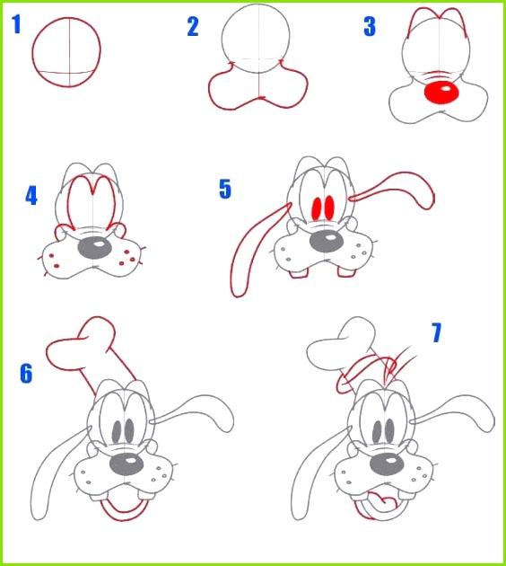 Goofy Disney zeichnen lernen ictiere zeichnen lernen Zeichnen lernen