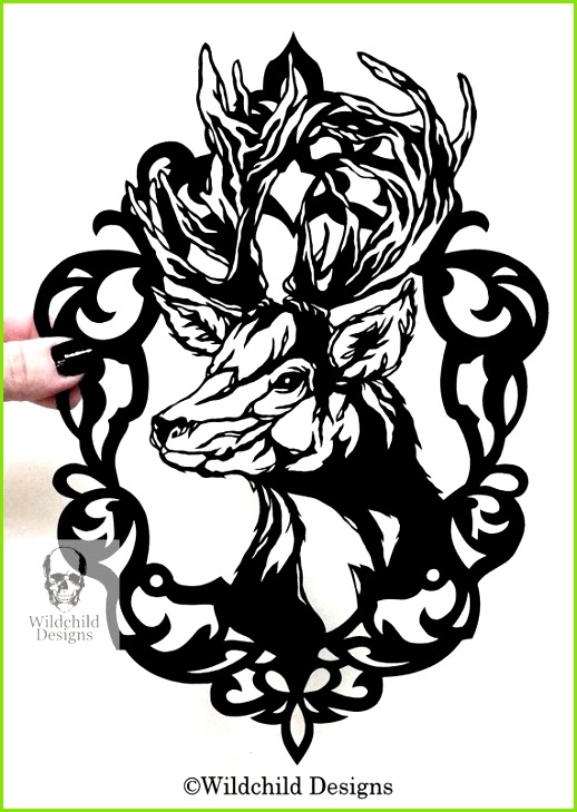 Cameo Stag Paper Cutting Template mercial Use Vinyl