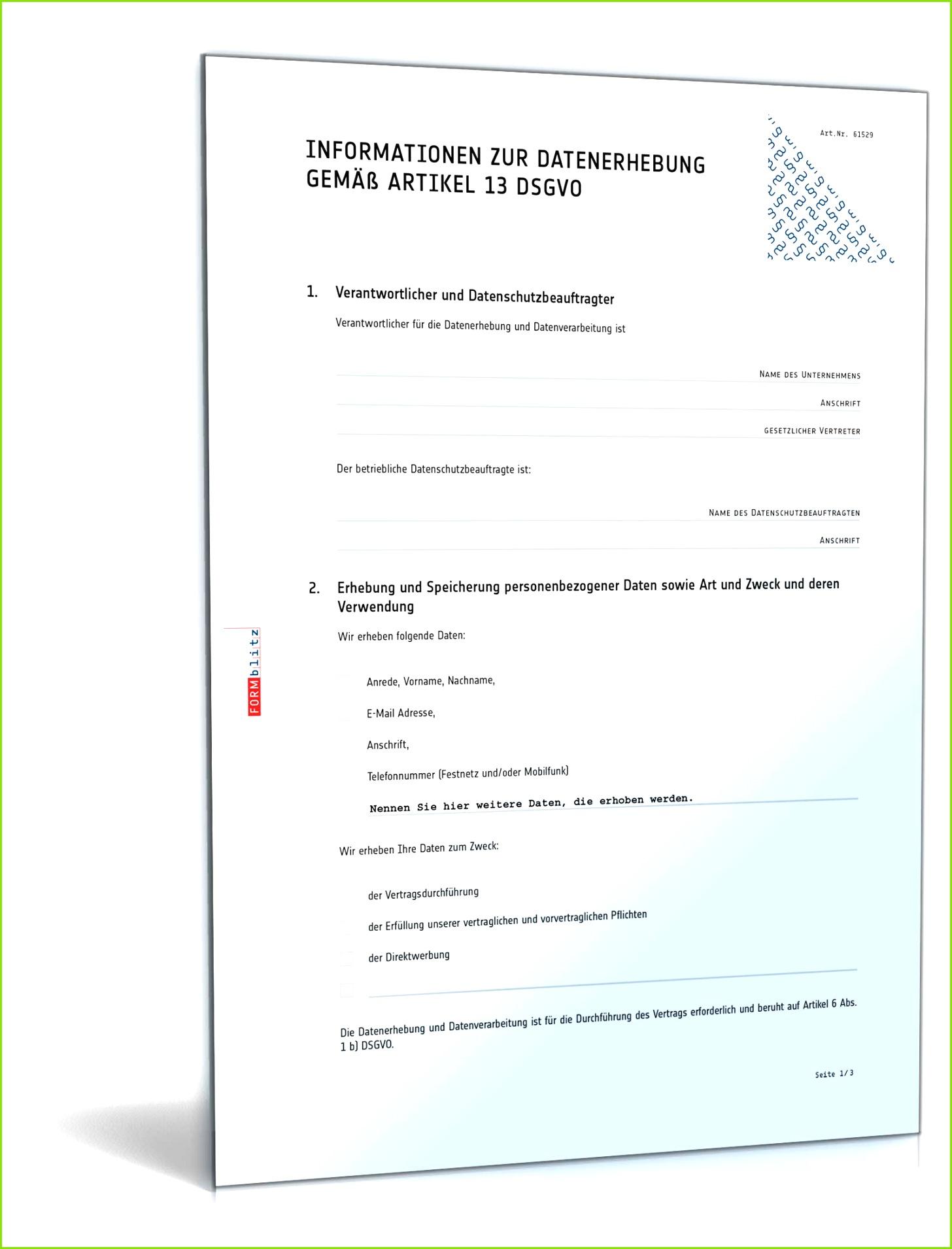 Datenschutzerklärung allgemein gemäß DSGVO