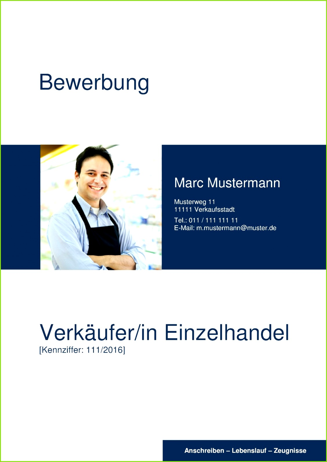 Deckblatt Bewerbung 03 Deckblatt für Verkäufer und Verkäuferinnen