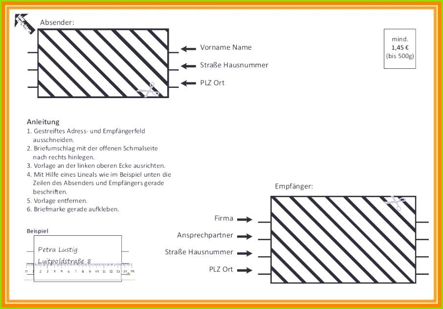 Brief Beschriften Vorlage Design Briefumschlag Vorlage Zum Wondeful Din A4 ordner Beschriftung Vorlage