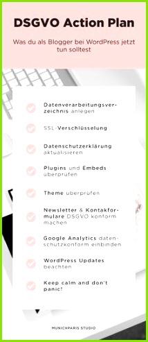 Die DSGVO & WordPress Checkliste für Blogger