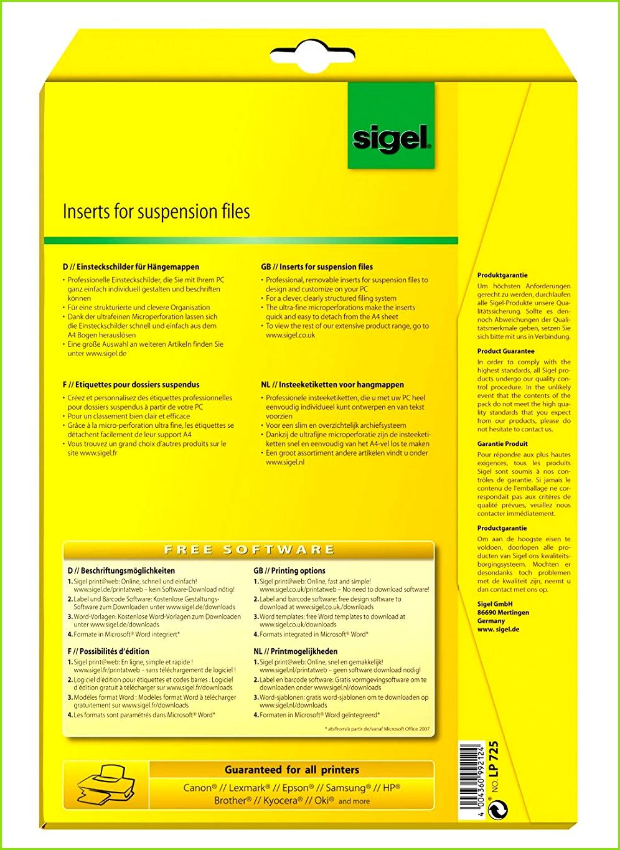 Sigel LP725 Blankoschilder für Hängeregistratur weiß A4 180 Stück 58x18 mm für Elba Amazon Bürobedarf & Schreibwaren