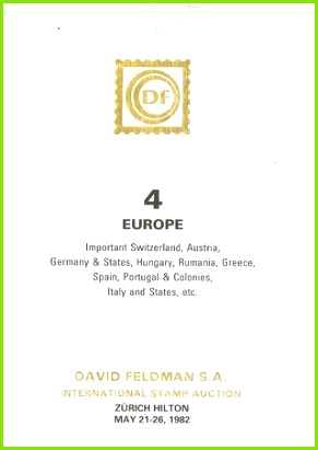 Stamps auction catalogue Europe