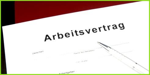 Muster Formular Arbeitsvertrag
