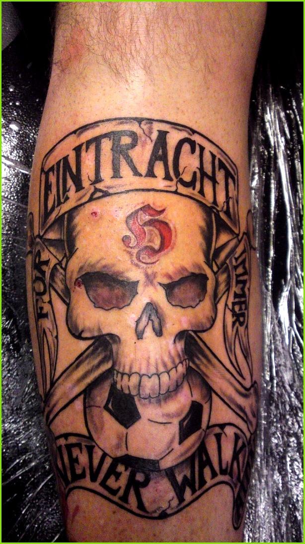 Eintracht Tattoo Ideen Tattoostudio Frankfurt Schädel