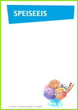 Speiseeis Karte Blau als PDF Datei
