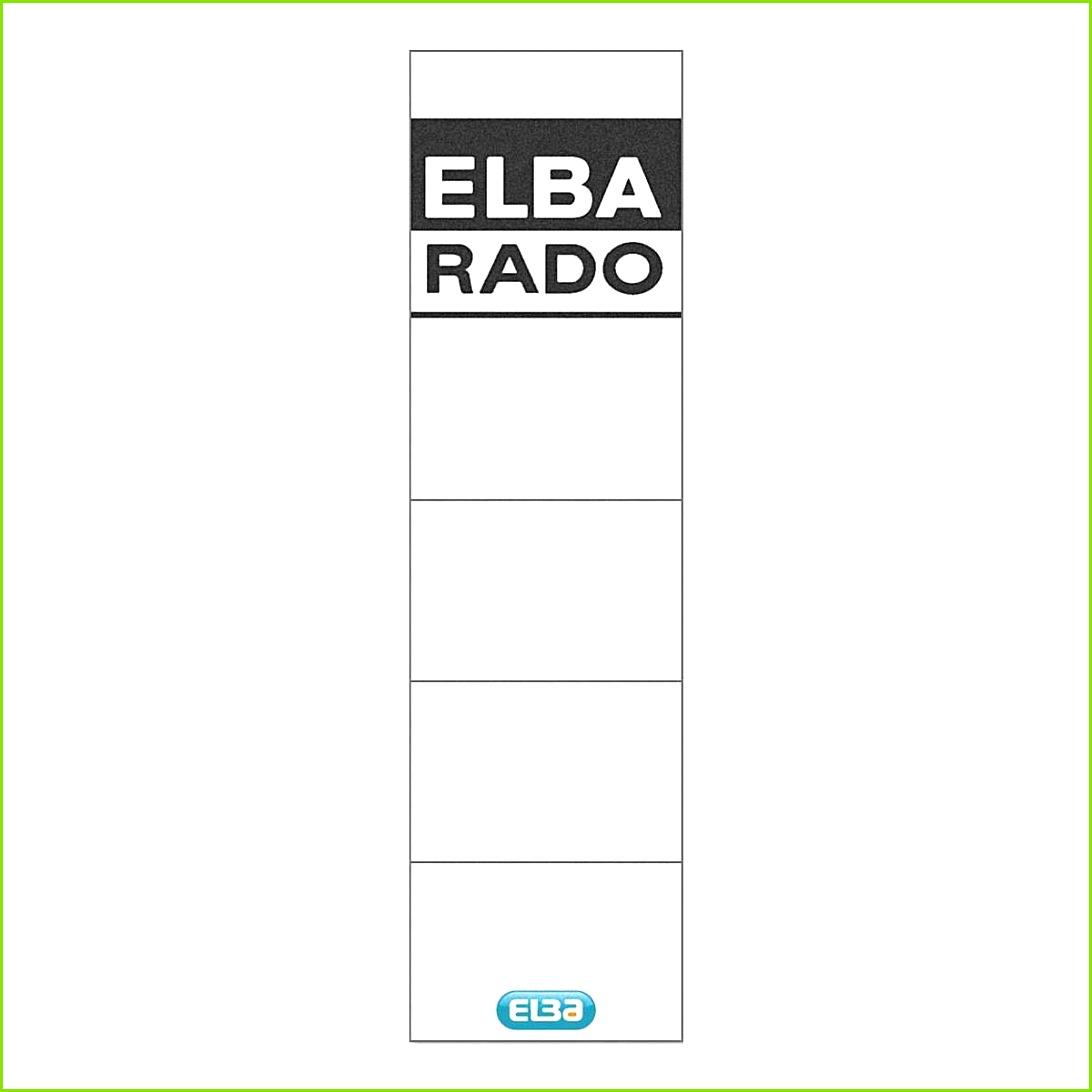 Ordner Rückenschilder Vorlage Excel Wunderbar Elba Rückenschilder Rado Plast Zum Einstecken